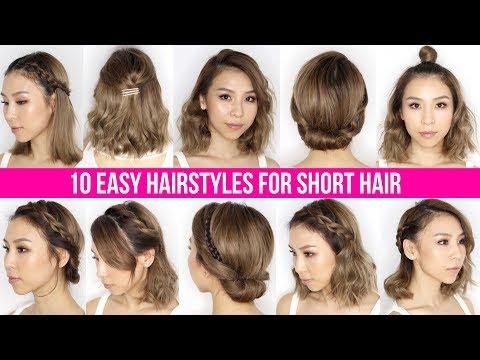 10 Easy Ways To Style Short Hair & Long Bob - Tina Yong