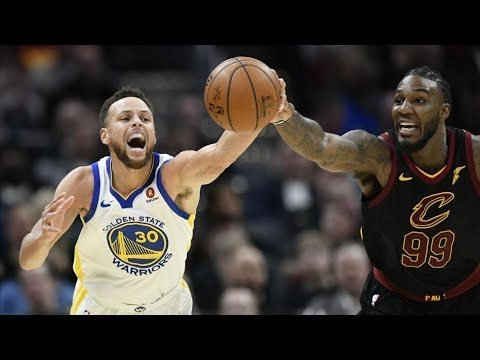 LeBron James vs Kevin Durant! Stephen Curry Dunk! Warriors vs Cavs 2017-18 Season (видео)