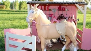 Download Video American Girl Doll Horse & Stable Playset Review MP3 3GP MP4