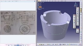 Catia V5 Tutorial|P4-Create Screw Jack|Cup Part|Mechanical Engineering Design