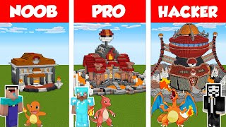 Minecraft NOOB vs PRO vs HACKER: POKEMON GYM HOUSE BUILD CHALLENGE in Minecraft / Animation