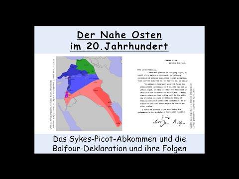 Das Sykes-Picot-Abkommen 1916 und die Balfour-Deklarat ...