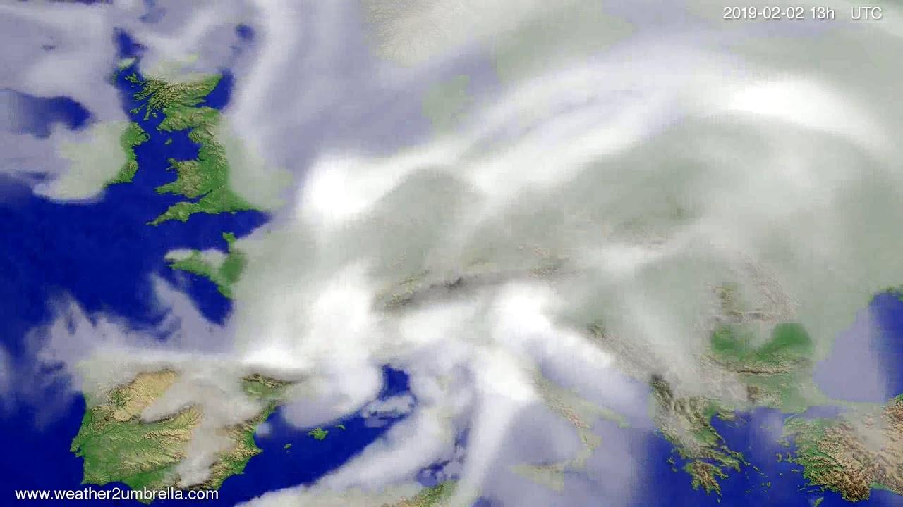 Cloud forecast Europe 2019-02-02
