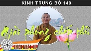 Kinh Trung Bộ 140 (Kinh Giới Phân Biệt) - Giải phóng chấp thủ (16/08/2009) - Thích Nhật Từ
