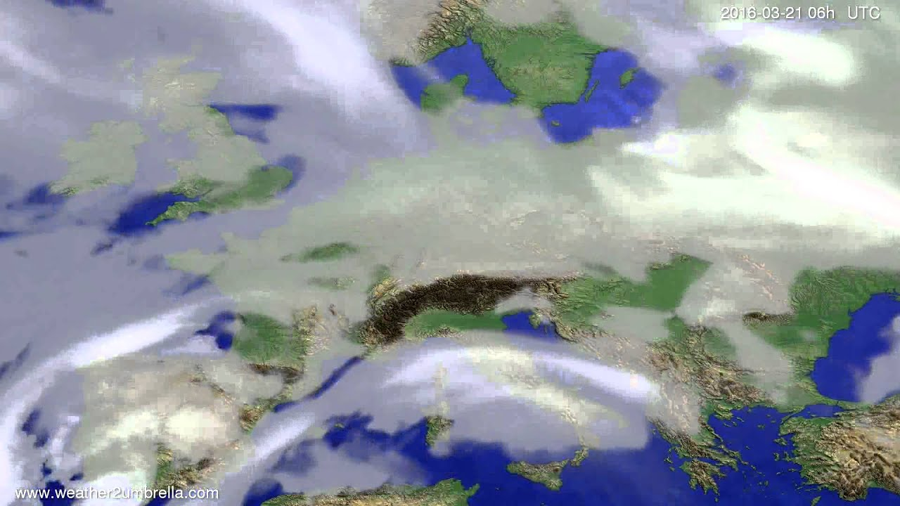 Cloud forecast Europe 2016-03-18