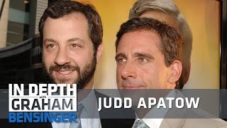 """Judd Apatow discusses how Steve Carell stood out on the set of """"Anchorman"""" and it led to working together to write """"The 40-Year-Old Virgin"""" Want to see more?..."""