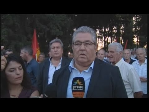 Ο γενικός γραμματέας της Κ.Ε. του ΚΚΕ Δημήτρης Κουτσούμπας στην Θήβα