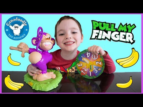 Pull My Finger FUNNY Monkey Game Kids Toy Review and Kinder Surprise Egg