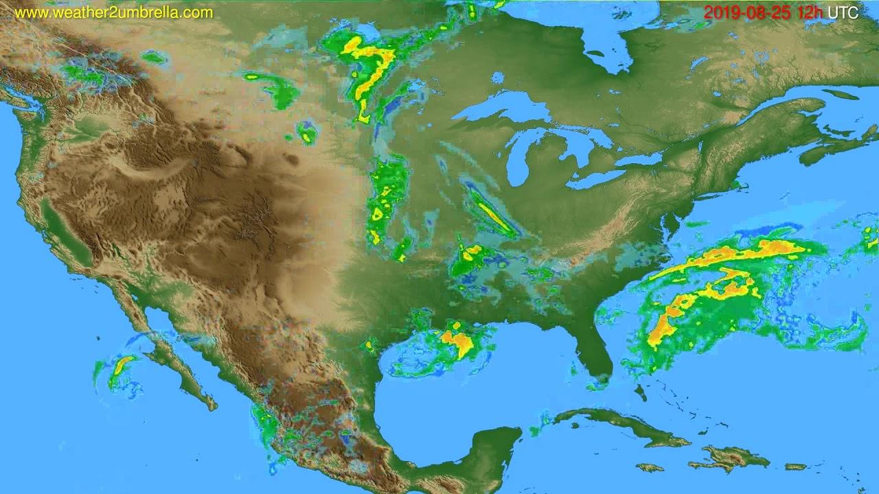 Radar forecast USA & Canada // modelrun: 00h UTC 2019-08-25