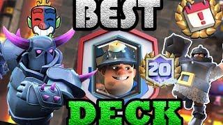 Midfinger 20 wins  Miner Poision best deck FOR clash royale league challenge