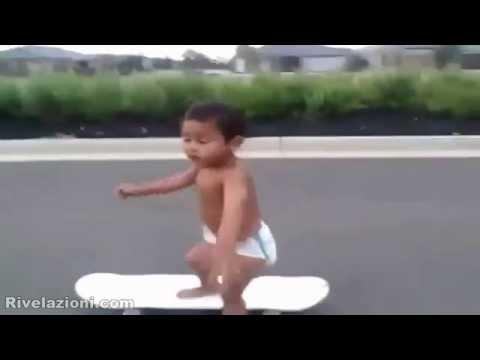 a soli due anni sullo skateboard
