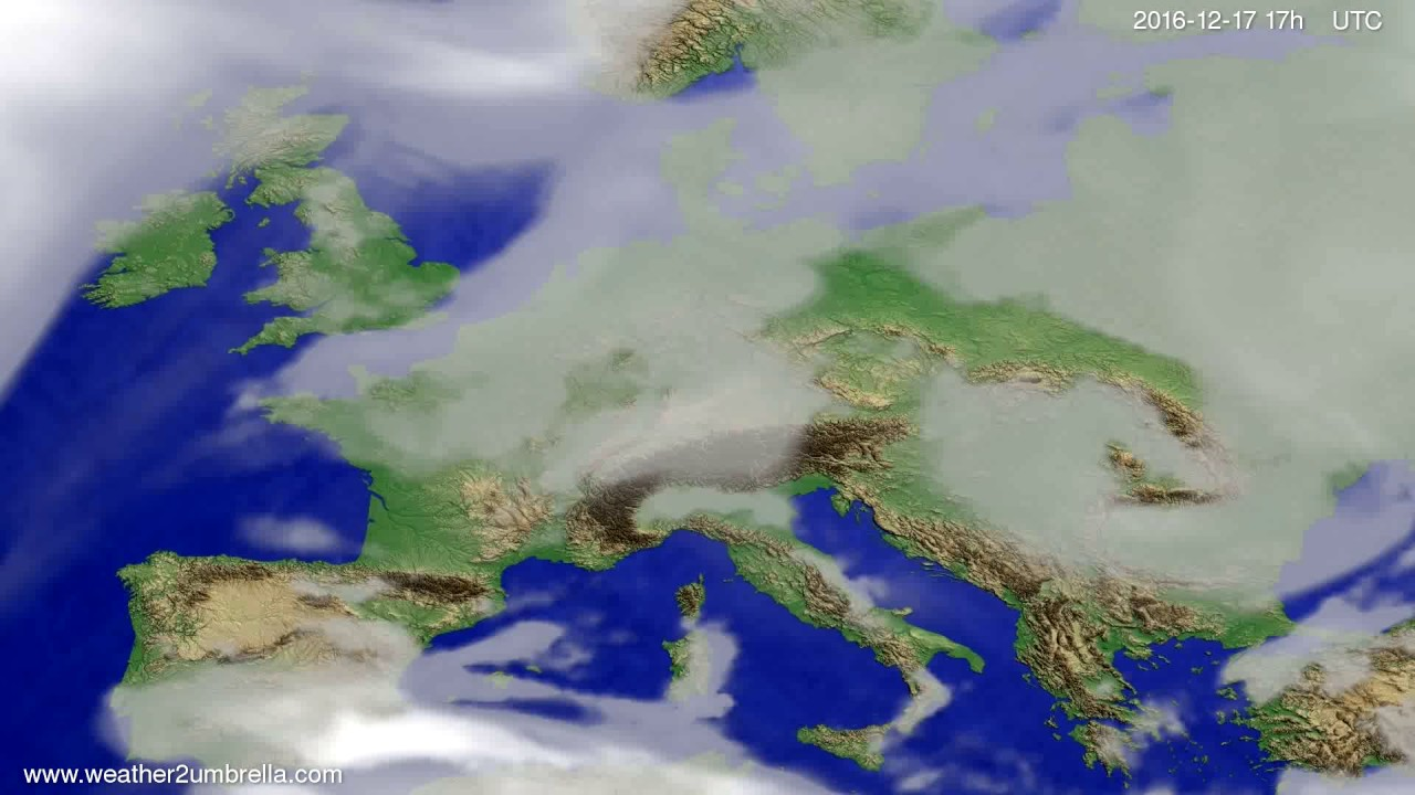 Cloud forecast Europe 2016-12-15