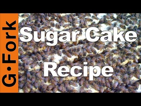 Sugar Cake Recipe Winter Feeding Beginning Beekeeping GardenFork.TV