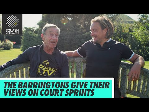 Squash tips: Origins Part 2 - The Barringtons give their view on court sprints