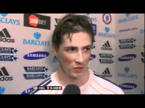 Fernando Torres Interview After His First Goal For Chelsea