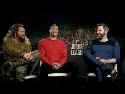 JUSTICE LEAGUE interviews - Gal Gadot, Ben Affleck, Henry Cavill, Ezra Miller, Momoa, Fisher