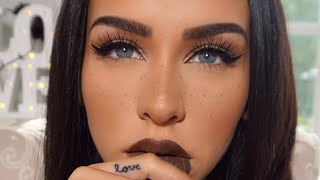 FALL MAKEUP | Simple Eyes & FAUX Freckles by Carli Bybel