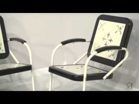 Pair of Paradise Cove Retro Metal Arm Chairs in Black – Product Review Video