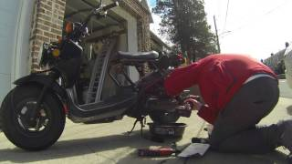 3. Honda Ruckus Oil change and air filter Gopro
