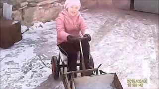 детский трактор- погрузчик, самоделка.