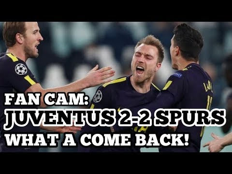 FAN CAM: Juventus 2-2 Tottenham: What a Come Back at The Allianz: Kane and Eriksen: 13 February 2018