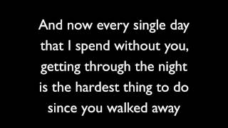Never Should Have Let You Go - Simple Plan (Lyrics)