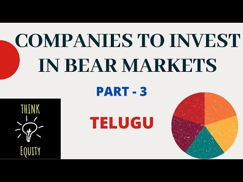 Companies to Invest in Bear Markets - Telugu - Part 3 - Share Market Telugu