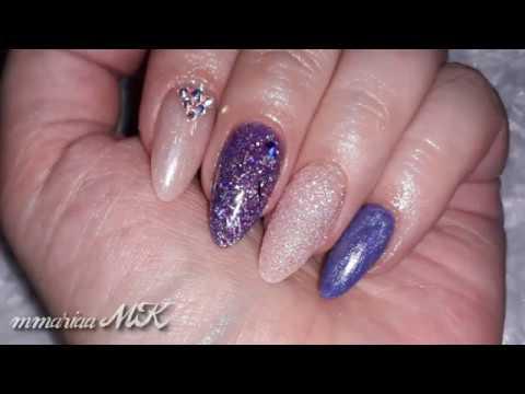 Uñas Acrilicas Moradas y Rosas / Purple And Pink Acrylic Nails - Colaboracion