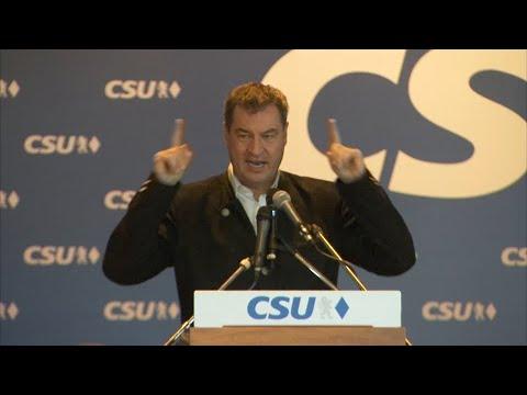 Asylpolitik: Söder plädiert für Grenzschutz und Sachl ...