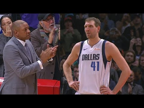 Dirk Emotional Moment After Doc Rivers Stops The Game & Tells Clippers To Give Him Standing Ovation!