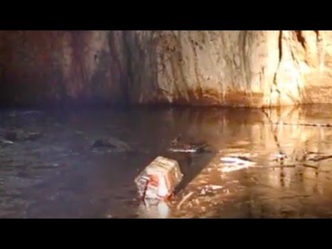 carso triestino - trebiciano, grotta inquinata da idrocarburi esausti