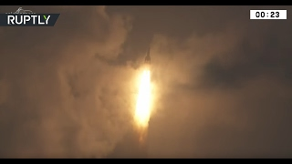The launch is the 77th succcessful Ariane rocket launch and the first of a series of Ariane missions scheduled for this year. The 55m tall Ariane 5 rocket ca...