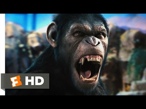 Rise of the Planet of the Apes (2011) - Caesar Speaks Scene (1/5) | Movieclips