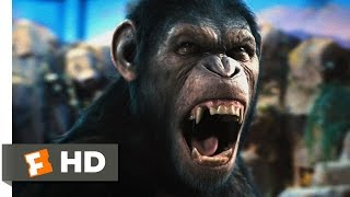Nonton Rise of the Planet of the Apes (2011) - Caesar Speaks Scene (1/5) | Movieclips Film Subtitle Indonesia Streaming Movie Download