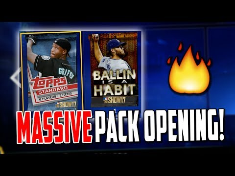 50,000 STUB PACK OPENING + BALLIN IS A HABIT PACK! MLB The Show 17 | Diamond Dynasty
