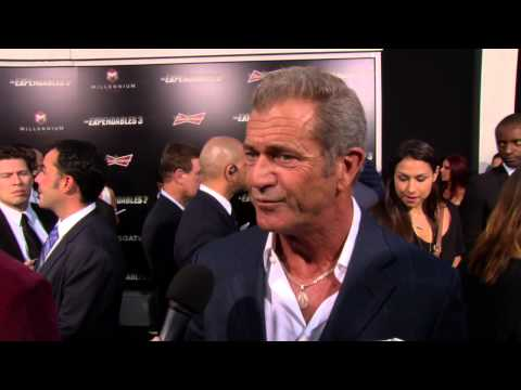 The Expendables 3: Mel Gibson Red Carpet Movie Premiere Interview