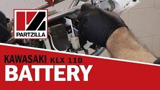 9. How to Change a Motorcycle Battery | Kawasaki KLX 110 | Partzilla.com
