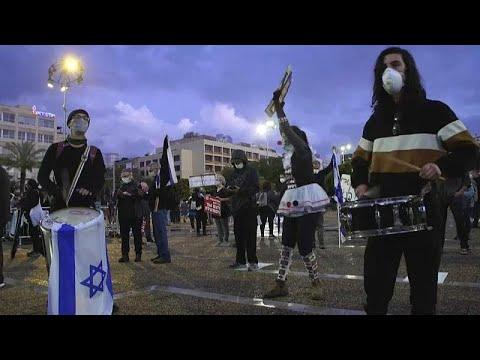 Israel: Protest gegen Netanjahu - Demonstration mit Abstand