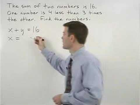 Systems of Equations Word Problems Video