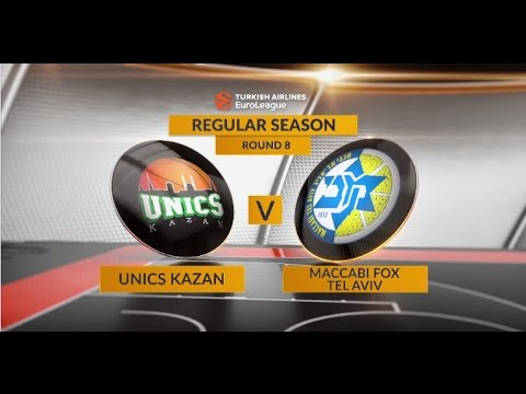 EuroLeague Highlights RS Round 8: Unics Kazan 73-74 Maccabi FOX Tel Aviv