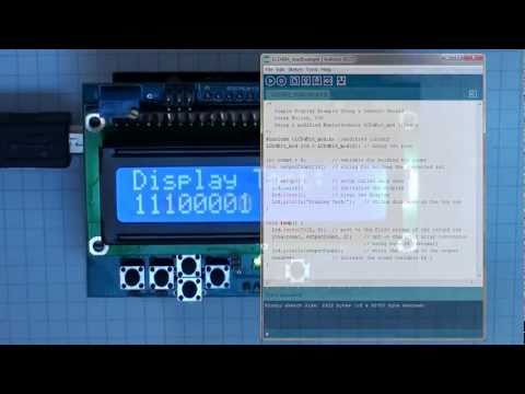 Arduino: Arduino LCD Tutorial:  This short video looks at the different options available for connecting an LCD character display to an Arduino. It uses a wide set of displays: The nuelectronics display shield, 20x4, 20x2,16x2 and 8x2 display modules. It shows the code that you need to create an example display and describes the use of the POT in the display. The modules used are the nuelectronics display shield, JHD 204, WH1602, CM200200 and a YJ 802A. This experiment is part of an introductory module to Digital and Analogue Electronics at Dublin City University, Ireland: http://ee223.eeng.dcu.ie/Please note that the background wallpaper that is used in the logo image is from PJRC Electronic Projects, www.pjrc.com.