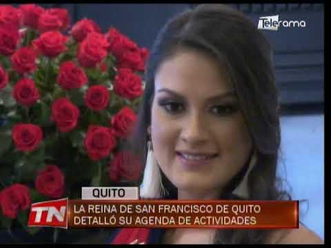 La reina de San Francisco de Quito detalló su agenda de actividades