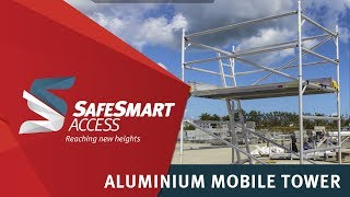 SafeSmart Aluminium Mobile Scaff Tower - Assembled in Less than 9 Minutes