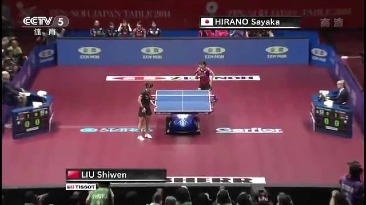 2014 WTTTC (WT-Final/CHN-JPN/m3) LIU Shiwen – HIRANO Sayaka [HD] [Full Match/Chinese]