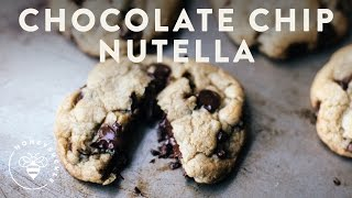 Decadent Chocolate Chip Cookies with NUTELLA Filling Recipe | HONEYSUCKLE