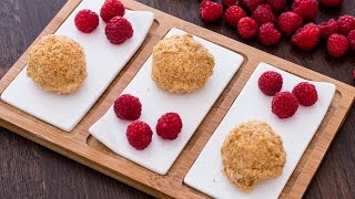 Raspberry Cheesecake Bites Recipe by Home Cooking Adventure