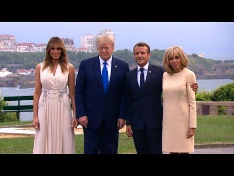 G7 Macron accueille Trump, Johnson et Merkel  AFP Images