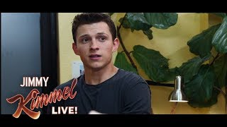 Tom Holland & Jimmy Kimmel in Exclusive Scene from Spider-Man: Far From Home