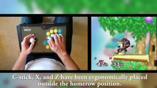 Smash Stick Teaser: Gamecube fightstick with analog joystick!