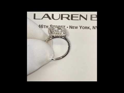 1.01 ct Round Diamond Double Halo Engagement Ring